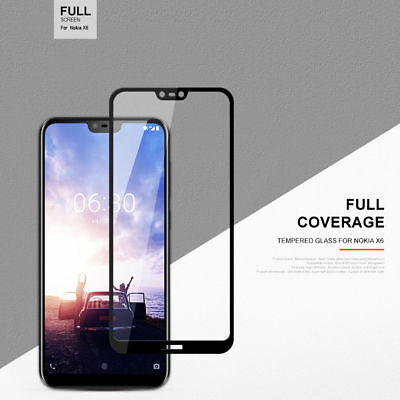AU4.99 • Buy Full Coverage Tempered Glass Screen Protector For Nokia 1 3.1 5 X6 6.1 7 Plus 8
