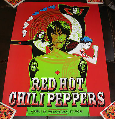 $24.99 • Buy RED HOT CHILI PEPPERS Concert Gig Poster Print STAFFORD 8-18-01 2001