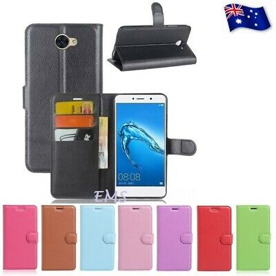 AU6.99 • Buy Wallet Leather Card Pocket PU Flip Case Cover For New Huawei Y7 + FREE Protector