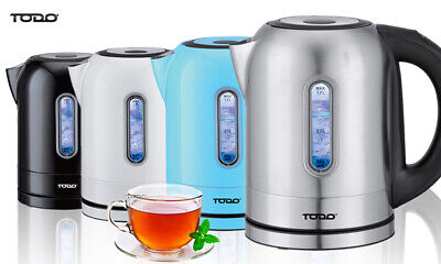 AU49 • Buy TODO 1.7L Stainless Steel Cordless Kettle Keep Warm Electric Led Water Jug