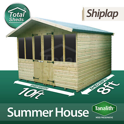 £1592.65 • Buy 10 X 8 SUPREME SUMMER HOUSE LOG CABIN WOODEN GARDEN SHED HIGH QUALITY TIMBER