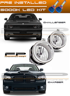 $46.44 • Buy LED 2006-2009 Dodge Charger 2008-2010 Challenger Replacement Fog Lights Housing