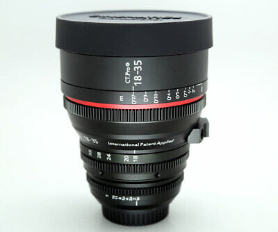 $ CDN2143.81 • Buy Cinematics Sigma 18-35mm T2.0 Canon EF For CANON RED RAVEN BMCC BMPCC SONY A7S