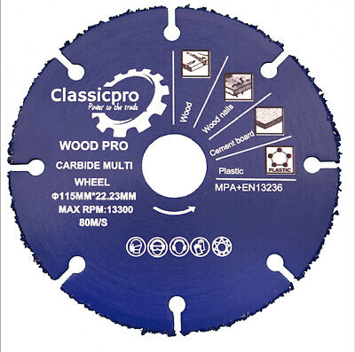 £13.50 • Buy Angle Grinder Multi-Purpose Blade Saw Disc Blade 115mm 4-1/2  For Wood Plaster