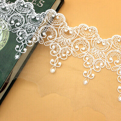 £2.59 • Buy Mesh Lace Ribbon Embroidered Scalloped Heart Trimming Sewing Craft Bridal Veil