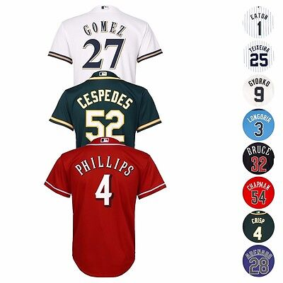 $9.79 • Buy MLB Majestic Official Cool Base Player Jersey Collection Youth Size S-XL (8-20)