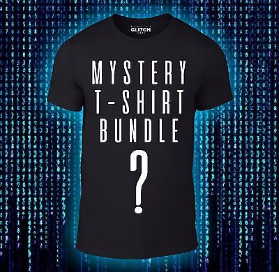 £13.49 • Buy Mystery T-Shirts Bundle - Movie TV Gaming Funny 3 Or 5 Tee Pack