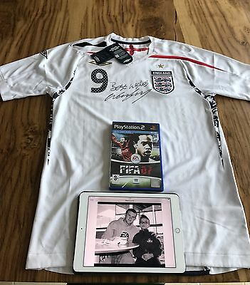£80 • Buy Wayne Rooney Signed England 2007 Home Shirt And Signed Fifa-07- Both Untouched