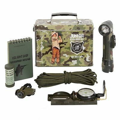 Kids Army Camouflage Junior Explorer Kit - Kids Army Roleplay Ideal Toys Gift  • 21.95£