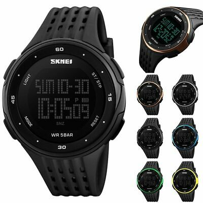 AU8.99 • Buy SKMEI Men Watches Mens Waterproof LED Digital Military Sport Quartz Wrist Watch