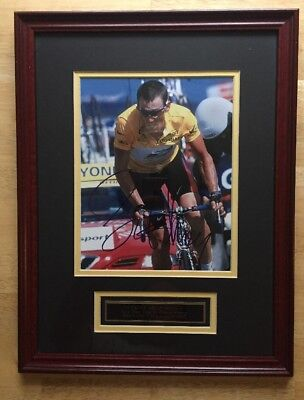 LANCE ARMSTRONG Signed Tour De France Picture In Frame With COA • 126.63£