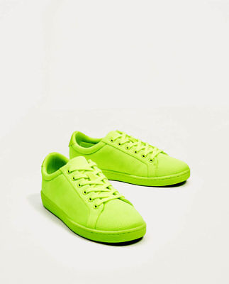 7310b856f1c7 ZARA Women s Lime Green New ( 39.90) Sneakers Athletic Shoes US Size 6.5   7.5