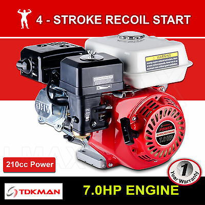AU189.98 • Buy 7HP Petrol Engine OHV Stationary Motor 4 Stroke 19mm Horizontal Shaft Recoil