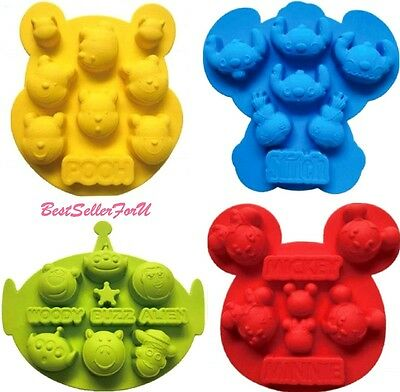 Disney Silicone Ice Cube Tray Bakeware Chocolate Muffin Cake Fondant Mold Sheet • 13.48£