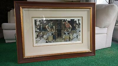 $ CDN1963.65 • Buy Framed Norman Rockwell Limited Edition Print Horseshoe Forging Contest 199/200