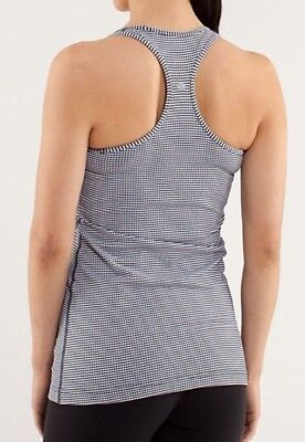$ CDN35 • Buy LULULEMON ATHLETICA Inkwell Gingham COOL RACERBACK TANK Top Size 4 XSMALL