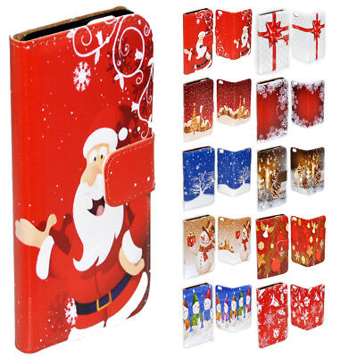AU14.98 • Buy For Sony Xperia Series - Christmas Theme Print Wallet Mobile Phone Case Cover