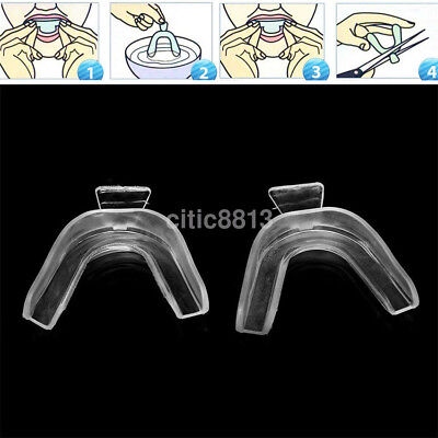 AU2.58 • Buy 2PCS Dental Thermoforming Moldable Mouth Tooth Teeth Whitening Trays Bleaching A
