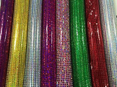 £5.99 • Buy SQUARE SEQUINS FABRIC HOLOGRAM Sparkly Decorations Shiny Weddings Costumes Dress