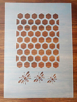 £5.50 • Buy Bee Honeycomb Stencil Mask Reusable PP Sheet For Arts & Crafts