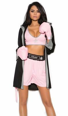 £38.22 • Buy Prizefighter Boxer Costume Top Shorts Hooded Robe Boxing Gloves Champ 99070