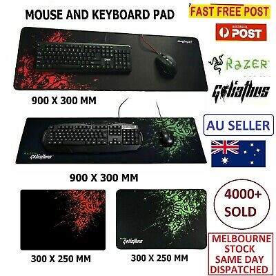 AU20.99 • Buy Razer PC Computer Desktop Mouse Mat Pad Wireless USB Gaming Keyboard Mouse Aus