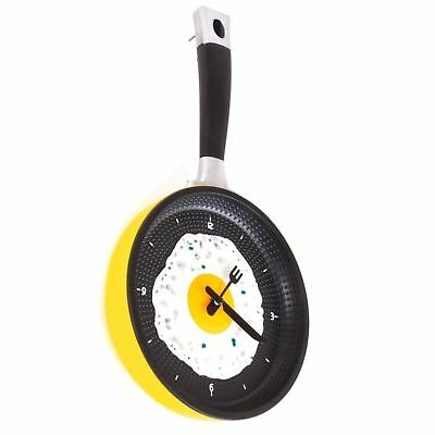 Wall Mounted Kitchen Novelty Frying Pan Egg Clock Plastic Analogue Quartz • 11.95£