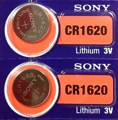 AU4.75 • Buy 2 New SONY CR1620 3v Battery MADE In JAPAN Fast Post