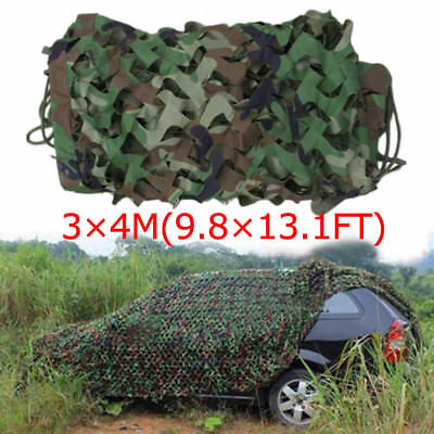 $24.75 • Buy 13x10ft Woodland Camouflage Netting Military Camo Net Hunting W/ String Backing