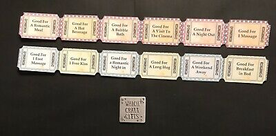 12 Love Token Coupons Vintage Retro Tea Party Hen Night Favour Valentines Gift • 2.50£