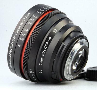 $ CDN2428.92 • Buy Customized Cine Lens Canon 50mm F1.2 EF Mount For RED RAVEN SONY A7S BMCC 5D 6D