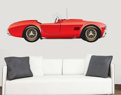 Vintage Red Sports Car Wall Art Vinyl Sticker Classic Racing Decal Mural • 12.99£