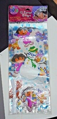 Nick Jr. Dora The Explorer Plastic Party Favor Bags 12 Pack With Ties NEW 11.5  • 4.30£