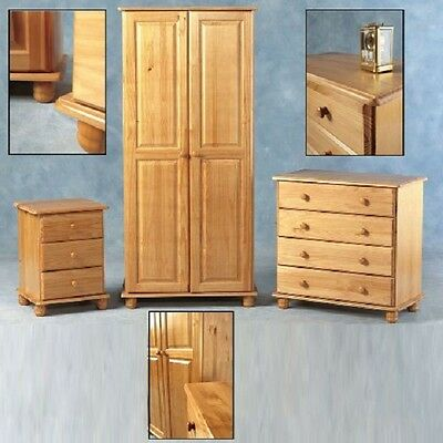 £145.99 • Buy Sol SOLID ANTIQUE PINE WARDROBE OR CHEST OF DRAWERS OR BEDSIDE FREE DELIVERY