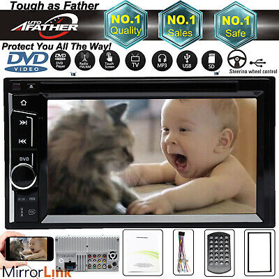 $111.90 • Buy For GMC Canyon Yukon Double Din 6.2  Car Stereo DVD Radio Player Bluetooth FM/AM