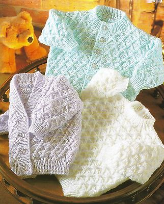 £1.99 • Buy Baby Cardigans And Sweater Knitting Patterns In DK 16-22    243