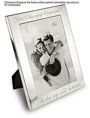 £13.95 • Buy Personalised Photo Frame 7  X 5  Silver Plated - Custom Engraved
