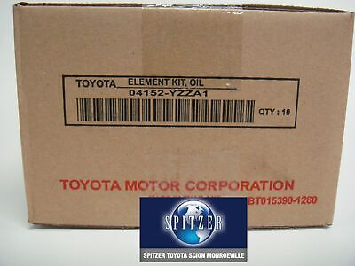 $50 • Buy TOYOTA OEM Engine-Oil Filter 04152YZZA1,04152-YZZA1 YZZA1( SOLD AS A CASE OF 10)
