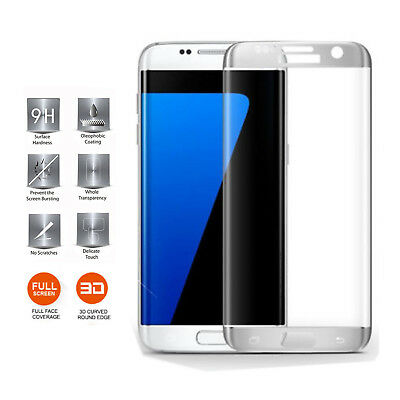 $ CDN7.70 • Buy For Samsung Galaxy S7 Edge - Full Curved Tempered Glass Screen Protection Silver