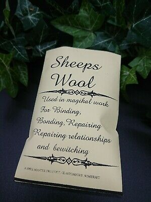 Sheep's Wool Spells Altar Spell Supplies Protection Pagan Wiccan Witchcraft  • 3.40£