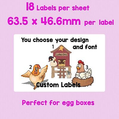 180 Egg Box Labels Poultry Chicken Duck Quail Goose Jam Jar Sticky Self Adhesive • 9.50£