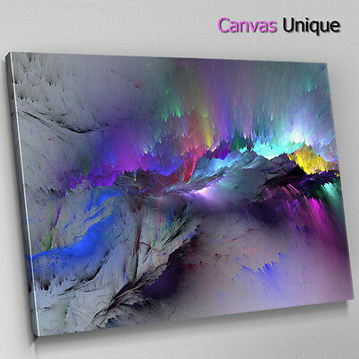 AB1209 Blue Dark Modern Abstract Wall Art Picture Large Canvas Print • 14.99£