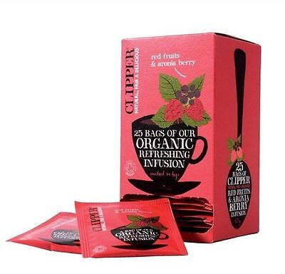 Clipper Tea Bags Organic Red Fruits & Aronia Berry Infusion 25 Envelopes • 16.81£