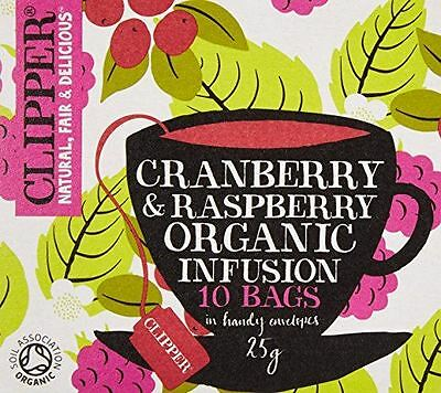 Clipper Tea Bags Cranberry And Raspberry 10 Bags • 4.65£