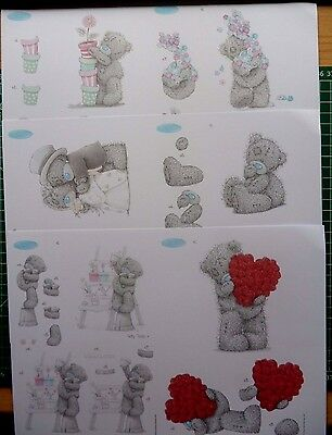 6 X A5  Tatty Teddy Decoupage -all Different-6 Packs To Choose • 2.50£