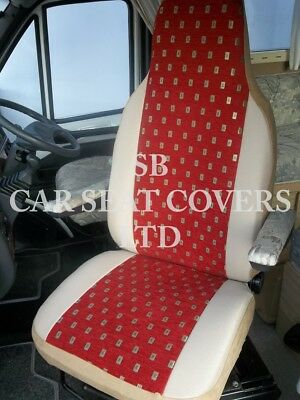 I-TO FIT FIAT DUCATO MOTORHOME SEAT COVERS, ELLIE RED MH-701 • 79.99£