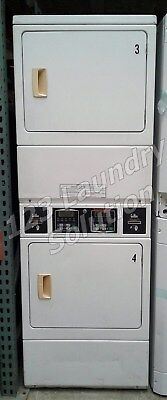 $850 • Buy Speed Queen Commercial Stack Dryer Apt Size Card OPL SSGF09WJ White Finish Used