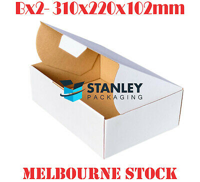 AU31.95 • Buy Diecut Mailing Box 310x220x102mm BX2 A4 B2 Cardboard Carton Folding White Boxes
