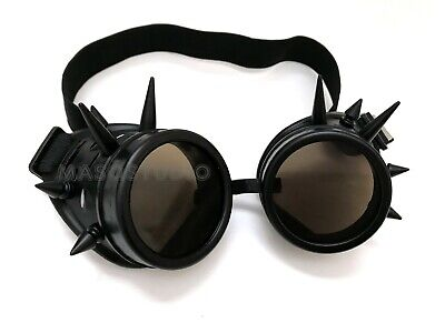 $ CDN9.31 • Buy Halloween Steampunk Glasses Spikes Goggles Costume Cosplay Dress Up Party