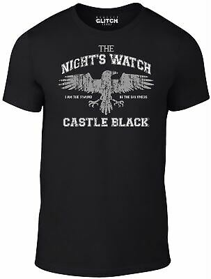 Night's Crow T-Shirt - Jon Snow Game Of Crow Thrones TV Winter Gift HBO Film • 9.99£
